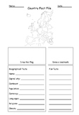 Country Fact File Template Geography Europe Map