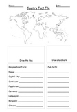 Country Fact File Template Geography World Map