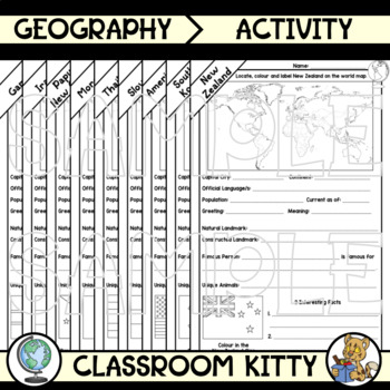 Country Fact File Worksheets