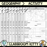 Country Fact File Worksheets MEGA BUNDLE