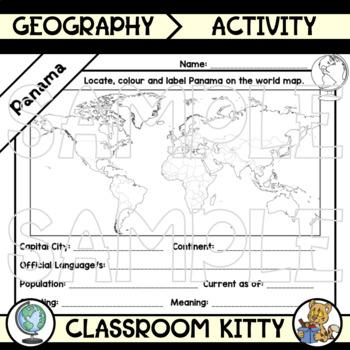 Country Fact File Worksheets MEGA BUNDLE