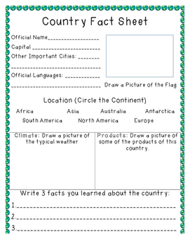 Country Fact Sheet