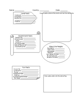 Country Facts Worksheet