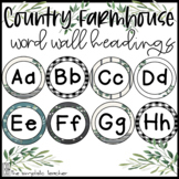 Country Farmhouse Word Wall Headings FREE