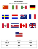 Country Flag Label Sheet