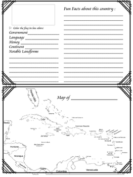 Country Foldables ~ Around the World