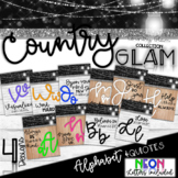 Country Glam Alphabet Line and Quotes - Country Glam Colle