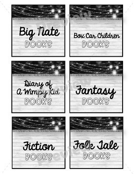 Country Glam Book Genre Labels Target Pocket Adhesive *EDITABLE FILE INCLUDED