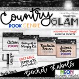 Country Glam Book Genre Labels Target Pocket Adhesive *EDI