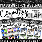 Country Glam Customary and Metric System Measurement Posters BUNDLE