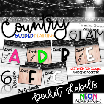 Country Glam Guided Reading Book Bin Labels - Target Pocket Adhesive Labels