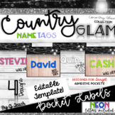 Country Glam Name Tags and Chair Pockets Target Adhesive L