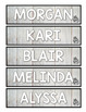 Country Glam Student Bookmarks Freebie *EDITABLE
