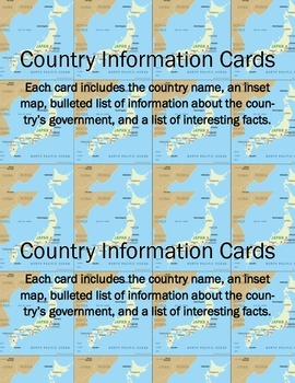 Country Government Information Cards
