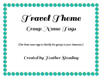 Country Group Name Signs {Travel Themed/IB/International Classrooms}