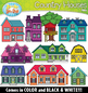 Country Houses Clipart Set {Zip-A-Dee-Doo-Dah Designs}
