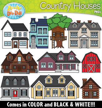 Country Houses Clipart Set