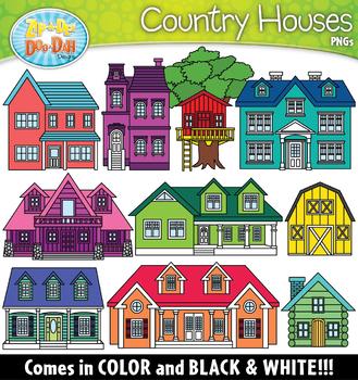 Country Houses Clipart Set {Zip-A-Dee-Doo-Dah Designs} | TpT