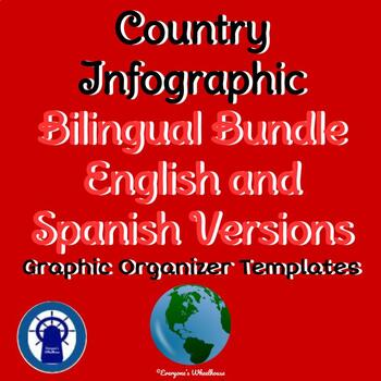 Country Infographic Template Bilingual Bundle