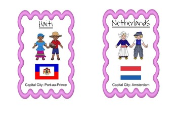 Country Informational Cards