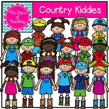 Country Kiddies Clipart Set