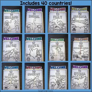 Country Lapbook Bundle for Early Learners - 32 Country Lapbooks