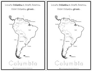 South America Coloring Task Book