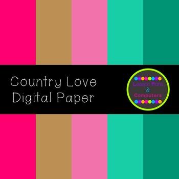 Country Love Digital Paper