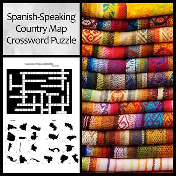 Spanish Speaking Country Map Crossword