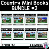 Country Mini Book Bundle #2 for Early Readers - China, Russia, Germany, Spain