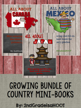 Country Mini-book Bundle **Growing Bundle