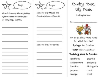Country Mouse, City Mouse Trifold - 3rd Grade Literacy by Design Theme 2