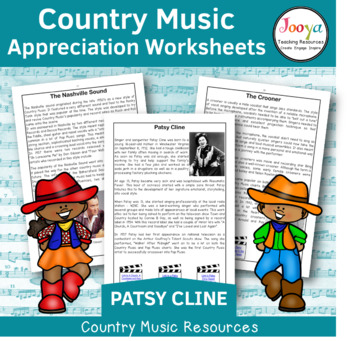 Country Music Appreciation Worksheets | Patsy Cline