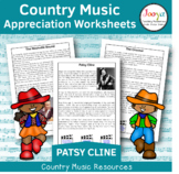 Country Music Appreciation Worksheets   Patsy Cline
