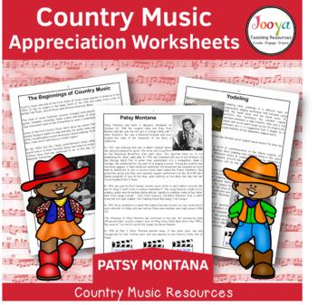 Country Music Appreciation Worksheets   Patsy Montana