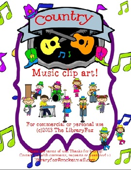 Country Music Kids & Instruments Arts & Humanities Clip Art forCommercial Use