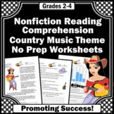 Country Music 2nd 3rd Grade Nonfiction Comprehension Passage and Questions