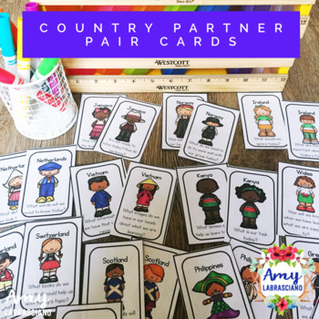 Country Pairing Cards with Engagement Questions