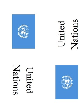 Country Placard: Flags of the World