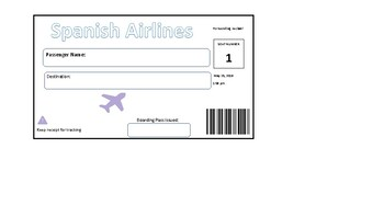 Boarding pass teaching resources teachers pay teachers country post cards unique boarding pass fandeluxe Gallery