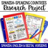 Spanish Speaking Countries Project with DIGITAL Google Slides Distance Learning
