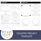 Country Project Template, Project Based Learning, Distance Learning