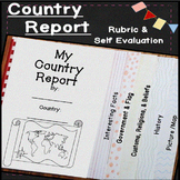 Country Report Template! Geography Project for 3rd, 4th, 5th, & 6th Grade