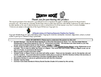 Country Report 7-12 Using CIA World Factbook Site for Economics & More