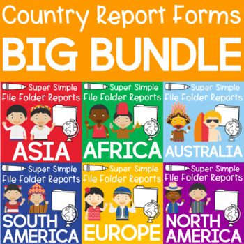 Country Report Forms Big Bundle (75 countries!)