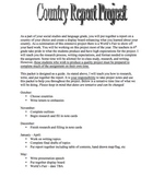 Country Report Packet and Rubrics