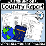 Country Research Project and Graphic Organizer Report Template