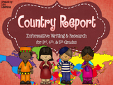 Country Report Research Project ~ Informative Writing {Common Core}