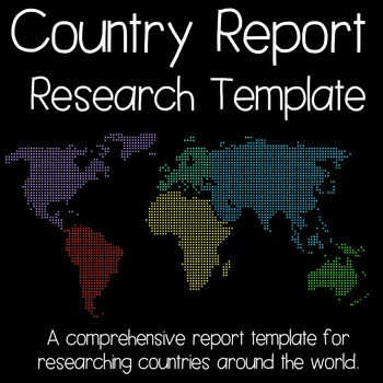 Country Report Research Template