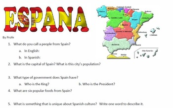 Country Report / Spanish Culture Reports